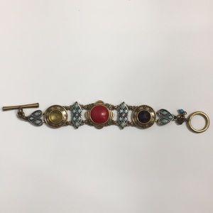 Lucky brand multicolored gold bracelet